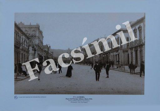 Almería. Nº 1 Paseo del Príncipe Alfonso, hacia 1910. Pequeña. Blanco y Negro