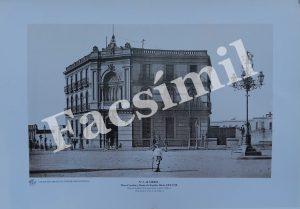 Almería. Nº 3 Plaza Circular, hacia 1905-1910. Pequeña (50 x 35 cms) Blanco y Negro.