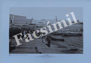 Almería. Nº 6 Playa, Pescadores y Barcos hacia 1912. Pequeña (50 x 35 cms) Blanco y Negro.
