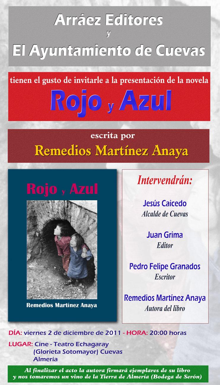 PRESENTACIÓN DEL LIBRO: ROJO Y AZUL