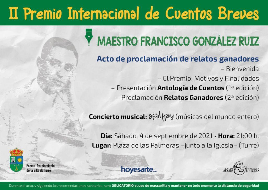 Presentación II Premio Internacional de Cuentos Breves Maestro Francisco González Ruiz